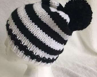 knit pompom hat winter beanie