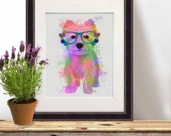 westie - West highland terrier - Terrier art Westie dog print Westie dog art Westie dog Westie dog decor Terrier print Dog lover Dog mom
