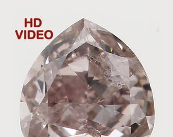 0.15 Ct Natural Loose Diamond Cut Heart Shape Brown Color 3.40X3.40X1.70 MM SI2 Clarity N5635