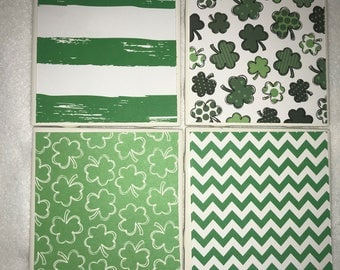 St. Patrick's Day coasters -  set of 4