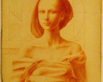 Eleonor Original antique drawing