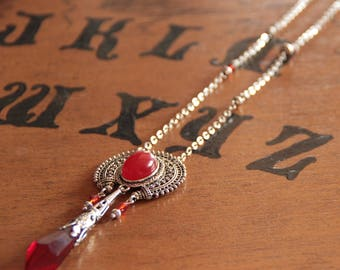 Red Agate Pendulum necklace