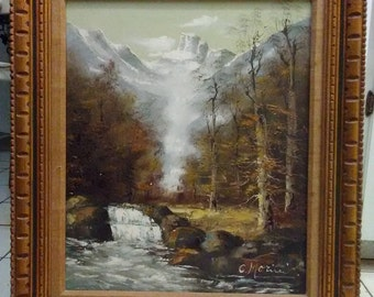 Original Oil Painting on Canvas by artist C. Morini