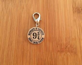 Harry Potter Hogwarts Express Platform 9 3/4 zipper charm, zipper pull, key chain