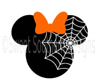 Minnie Mouse Halloween spider web Disney SVG instant download design for cricut or silhouette