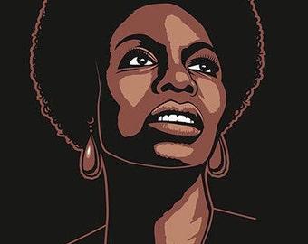 Nina Simone. Print 40 x 30 cm.