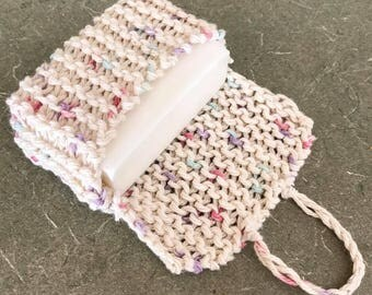 Soap saver bag, soap saver sock, soap saver, set of 2, knitted soap bag, soap sock, soap pouch