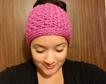 Crochet Messy Bun Hat, Messy Beanstalk Hat, Messy Bun Hat, Messy Man Bun Hat, Pony Tail Hat, Pony Tail Beanie, Messy Bun Toque