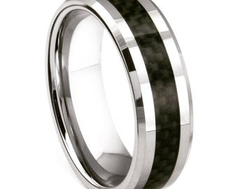 Men's Tungsten Carbide Inlay Ring