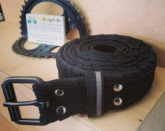 Black belt made from and old bike tire - 4,5cm wide