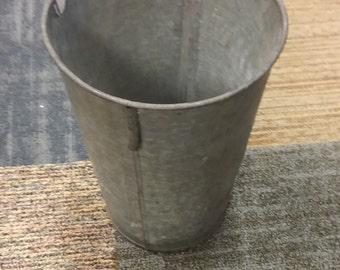 Vintage Primitive Metal Sap Bucket