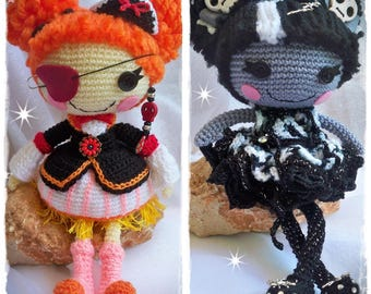 Lala Monster Little Spider/Lalaloopsy Pirate - Amigurumi