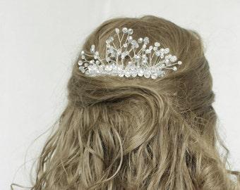 Rose gold  hair comb wedding Bridal comb Bridal hair comb wedding hair comb wedding comb bridal hair piece bridal headpiece silver hair comb
