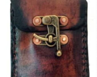 Handmade The JW leather Vertical Phone case