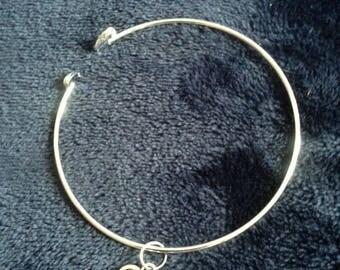 Love Friendship Silver sculpted charm Bracelet  - exquisite