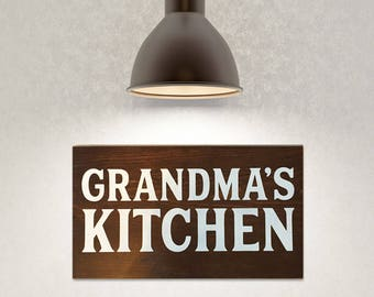 Painted wooden sign, Grandma's kitchen decor, Cook / chef gifts for grandma, grandmother gifts, gifts for grandma, Kitchen decor, rustic