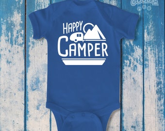 Happy Camper | Infant Bodysuit | Camping Enthusiast