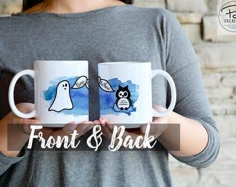 Boo Whoo - Halloween - Funny Mug - Halloween Mug - Pumpkin Mug - Owl Mug - Ghost Mug - Fall Mug - Autumn Mug - Gift for her - Gift for him