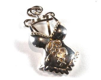 Vintage Silver Corset Pendant, Handmade Silver Pendant Charm, Corset Charms, Filigree Findings, Jewelry Findings, Pendant, Corset, Silver