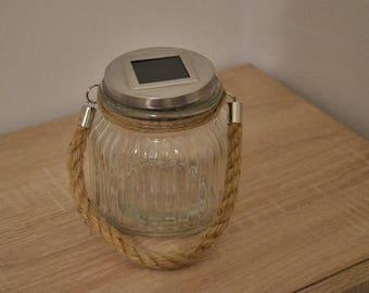 Solar led light lantern mason jar / solar lights / solar lanterns / garden lights / nights lights / rustic lantern / camping lights