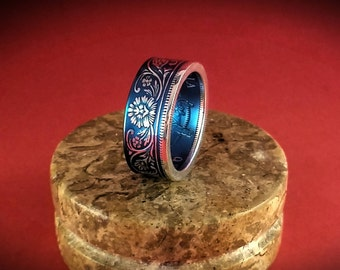 Queen Victoria Rupee Coin Ring - 17 Colors Available!
