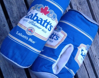 Super Rad & Vintage 80's / 90's Labatt's Blue Beer Can Slippers / One size fits all / Made in Canada