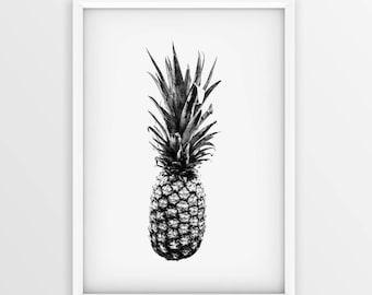 Pineapple Printable • Pineapple Print • Pineapple Poster • Pineapple Wall Art• Pineapple Art Print • Kitchen Decor • Kitchen Prints