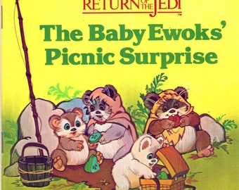 Vintage Star Wars Return of the Jedi ROTJ Baby Ewoks Picnic Surprise Book 1984 Random House
