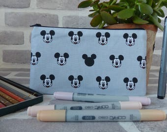 Mickey Mouse pencil case, Mickey Mouse , Disney bag, Disney, School supplies, back to school, gift for Disney fan, Disney gift,