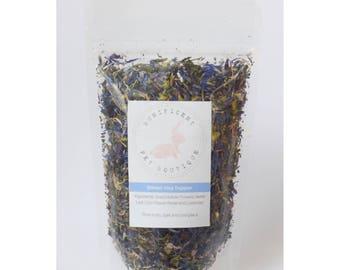 Winter Hay Topper -  Dry Herbs and Flower Treats for Rabbits, Rabbit food, Bunny treats Australia, guinea pig treats Rabbit treats
