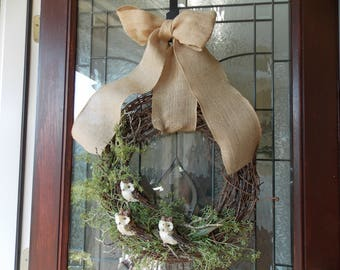 Fall Wreath-Fall Wreaths for Front Door-Thanksgiving Wreath-Owl Wreath-Wreath Owl-Autumn Wreath-Fall Door Wreaths-Front Door Wreaths-Owl
