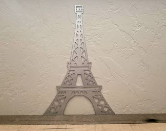 "Eiffel Tower Metal Wall Art/Paris Decor/Eiffel Tower Decor/Paris Theme/Paris Room Decor/15"" Tall by 9 3/4"" Wide/Eiffel Tower Art/Paris Art"