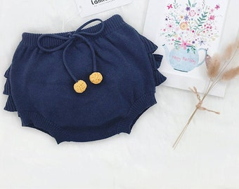 Knitted Ruffle Shorts