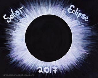 Solar Eclipse 2017 / Printable Art / Eclipse Art / Digital Art / Wall Art / Decor / Instant Download / Digital Print