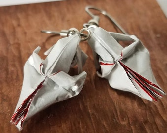 Origami Skull Earrings
