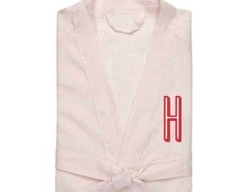 Women's Linen Robe, Pink