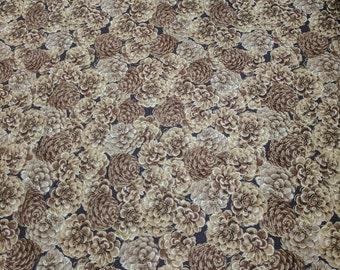 Autumn Fauna-Pinecones Cotton Fabric from Kanvas Studios