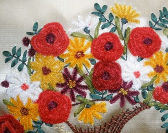 Kit roses in chenille