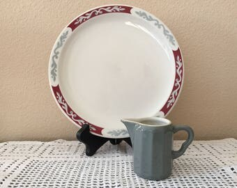 Syracuse China Embassy Pattern Lunch/Dinner Plate