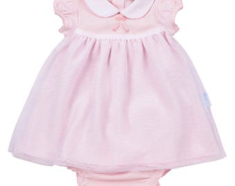 Pink tulle dress and diaper cover- ballerina shoes
