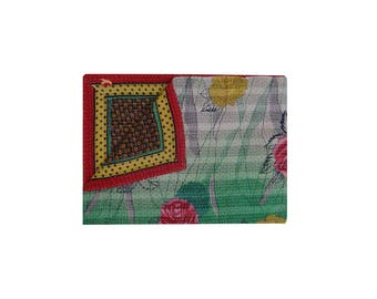 Twin Size Hand Stitched Vintage Kantha Quilt