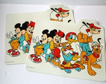 Two Walt Disney Company Vintage Placemats  Wall Art, Wall Decor