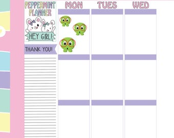 Inch Worm with Glasses, Planner Stickers, #70