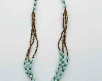 Mint Multi-strand Necklace