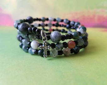 Five Decade Catholic Rosary Memory Wrap Bracelet