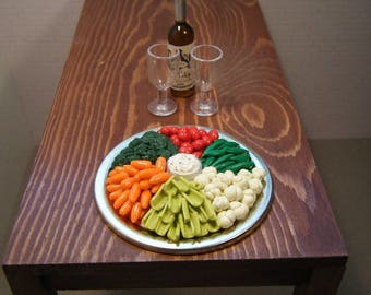 1:6 Scale Food - Deli Party Tray Vegetables and Dip - for Barbie Momoko, Blythe, Pullip, Fashion Royalty and other dolls - OOAK