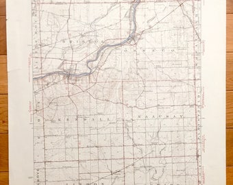 Usgs Topo Map Etsy - Us geological topographic maps