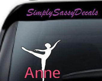 Personalized Ballerina Car Decal