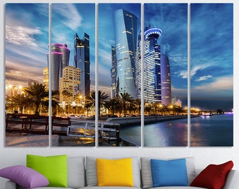Doha Art Qatar Cityscape Doha Wall Art Doha Wall Decor Doha Home Decor Doha Skyline Doha Print Doha Photo Doha Poster Doha Canvas Doha City