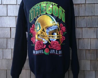 Vintage 1995 Oregon Ducks Rose Bowl sweatshirt - Salem Sportswear - Large tall - University of Oregon football